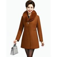 2018 Fashion Winter Woolen Jackets Women Fur Collar Temperament Slim Long Wool Coat High quality Winter Women's Jacket NW941
