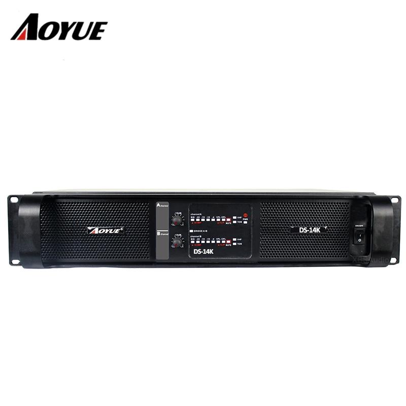 цена на sound system amplifier audio line amplifier DS-14K 2 channels 2400w*2