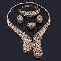 FAS071 Nigeriano Boda Perlas Africanas Sistemas de la Joyería de Moda Dubai Oro Conjuntos de Joyas de Cristal Para Las Mujeres Diseño de Vestuario