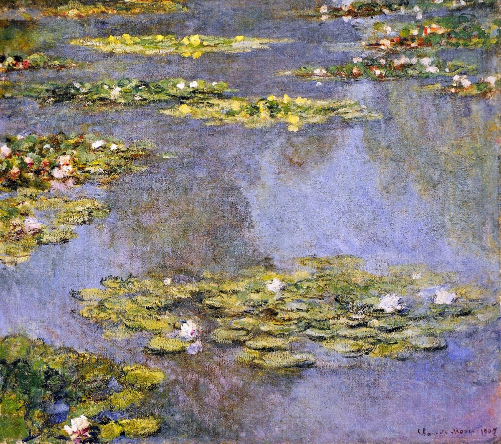 100% handmade landscape oil painting reproduction on linen canvas,water-lilies-8 by claude monet100% handmade landscape oil painting reproduction on linen canvas,water-lilies-8 by claude monet