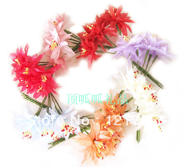 Free shipping Rustic artificial flower silk flower diy wedding decoration home decoration hair accessory corsage