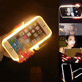 2016 новинка роскошные из светодиодов свет Selfie телефон трудный чехол для iPhone 6 6 S 6 плюс 6 S плюс 4.7 '' 5.5 '' световой телефон покрытия