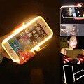 2016 nova moda de luxo LED Selfie do telefone duro para o iPhone 6 6 S 6 6 S Plus 4.7 '' 5.5 '' telefone luminosa