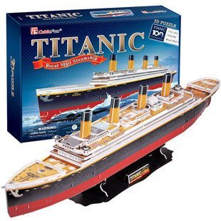 Candice guo! newest 3D puzzle toy updated version CubicFun 3D paper model jigsaw game luxurious Titanic royal mail steamship