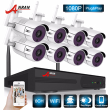 ANRAN Surveillance Security CCTV System P2P HD 8CH WIFI NVR Day Night Outdoor Waterproof 36 IR IP Camera 1080P Wireless System