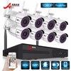 ANRAN Surveillance Security CCTV System P2P HD 8CH WIFI NVR Day Night Outdoor Waterproof 36 IR