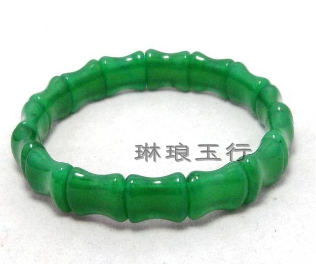 Jade natural aventurine jade bamboo hand row green bracelet lucky freight free - Beautiful manufacturing store