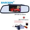 4.3 pantalla LCD del monitor del espejo + HD CCD de copia de seguridad aparcamiento cámara trasera para Aveo Cruze 2012 h/b wagon 2012 Opel Mokka 2012 CadillasSRX