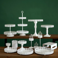 Weeding cake stand white cupcake tray lace edge cake tools home decoration dessert table decorating party suppliers
