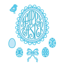 Happy Easter Egg Word Metal Cutting Dies Stencils for DIY Scrapbooking Album Photo Paper Cards Making Craft Embossing Decorative