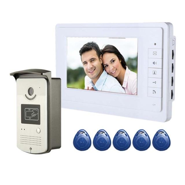 YobangSecurity 7''Inch Colar Monitor Wired Video Deur Intercom Deurtelefoon Systeem 1 Monitor 1 Camera Home Security KIT