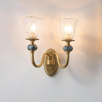 Nordic Classical Parlor Led Wall Lamp 1 Head 2 Heads Hotel Bedroom Wall Light Bedside Villa Wall Sconce Wall Loft Deco Luminaire