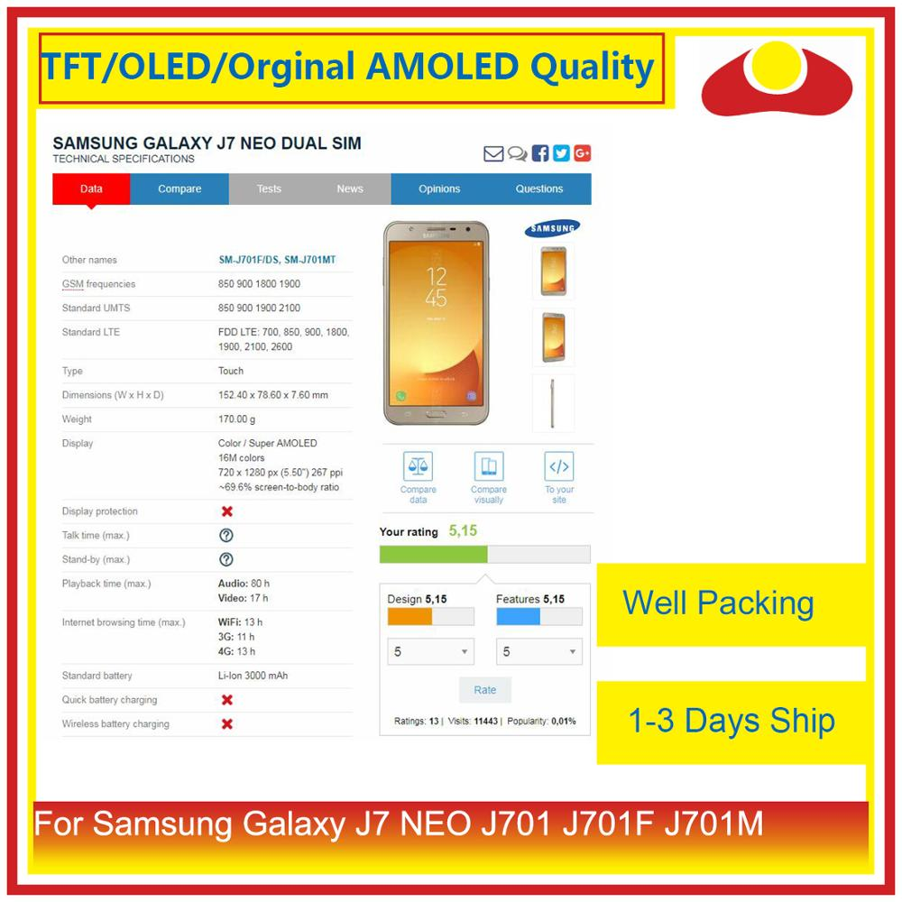 """Image 3 - ORIGINAL 5.5"""" For Samsung Galaxy J7 neo J701 J701F J701M J701MT LCD Display With Touch Screen Digitizer Panel Pantalla Complete-in Mobile Phone LCD Screens from Cellphones & Telecommunications"""