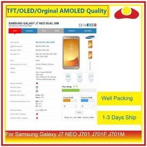 """Image 3 - Oryginalny 5.5 """"dla Samsung Galaxy J7 neo J701 J701F J701M J701MT wyświetlacz LCD z ekranem dotykowym panel digitizera Pantalla pełna"""
