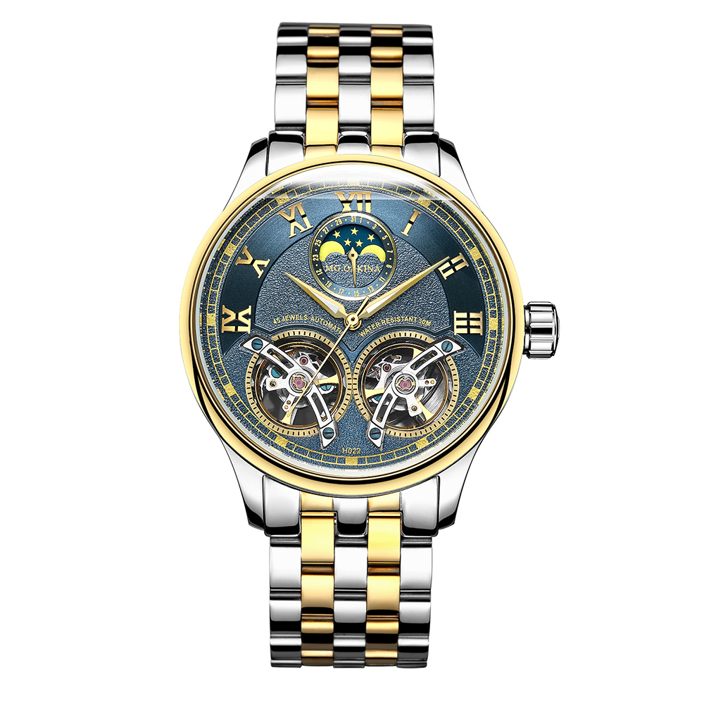 2019 ORKINA podwójne zegarki mechaniczne z tourbillonem mężczyźni Top marka luksusowe automatyczny zegarek mechaniczny mężczyźni zegar zegarek na rękę dla mężczyzn w Zegarki mechaniczne od Zegarki na  Grupa 1