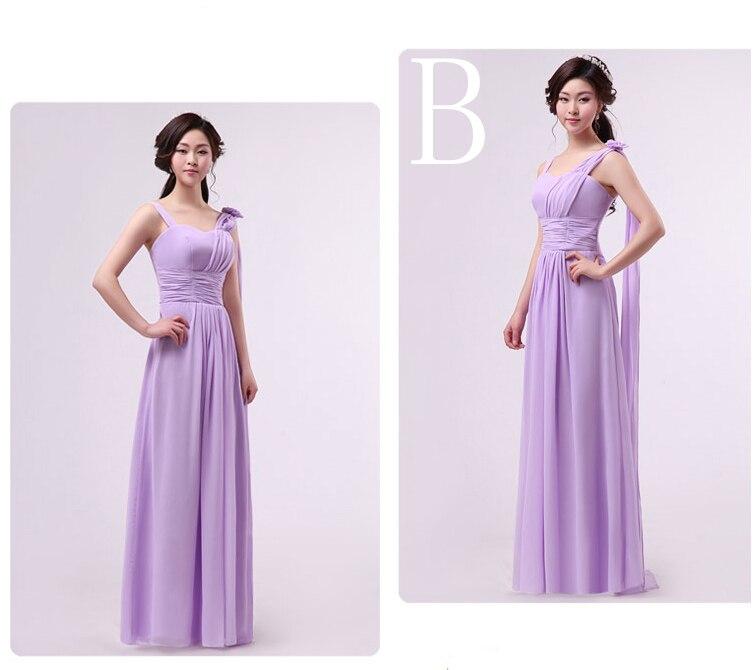 668cff842e ᗗEstilos diferentes mezclados largo elegante una línea vestido ...