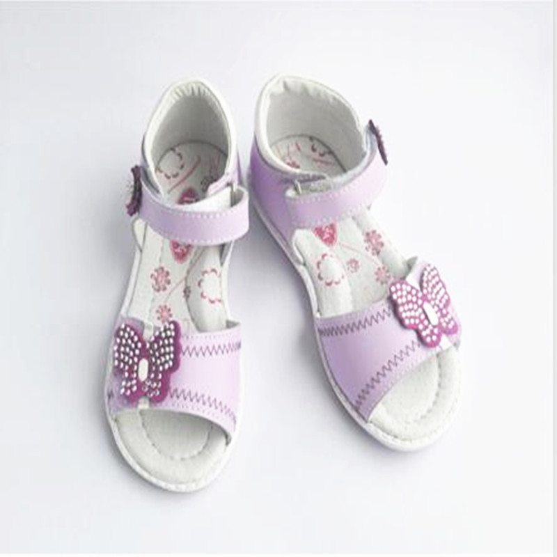 2018 NEW Girl Sandals Flower Genuine Leather Sandals Children girl Orthopedic shoes ,super quality Kid ...
