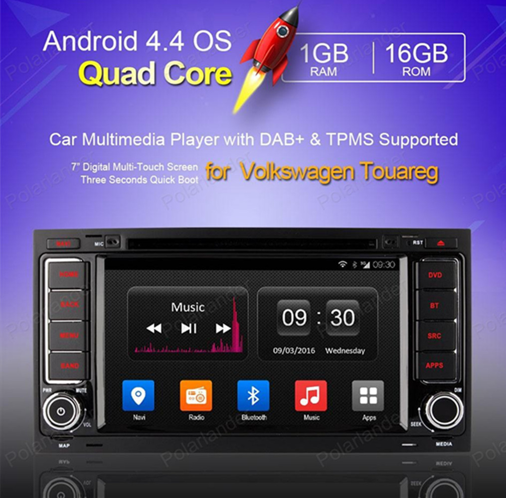 2 din Android 4 4 Car DVD player for Volkswagen touareg GPS Navi support DAB wifi