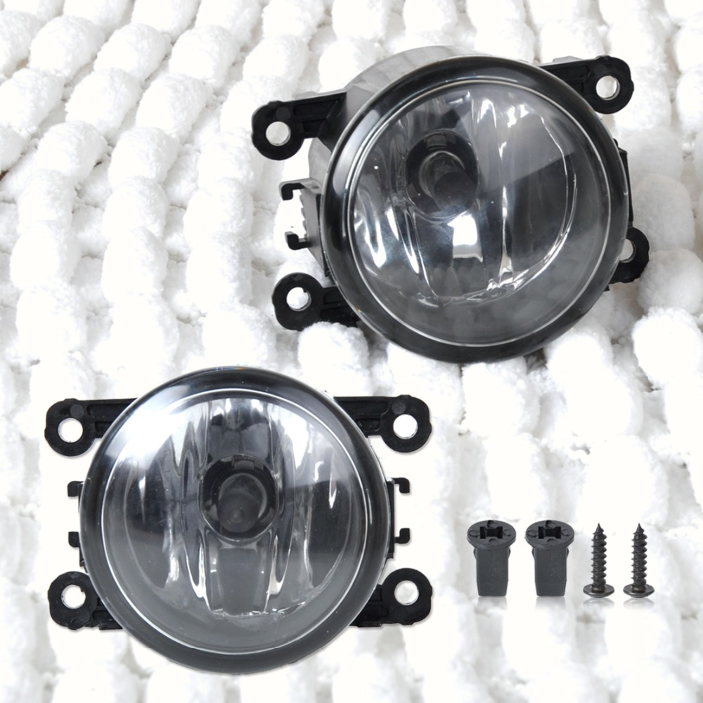 CITALL 2pcs Right + Left Side Fog Light Lamp + H11 Bulb 55W For Acura RDX TL Honda CR-V Ford Lincoln Jaguar Subaru Nissan Suzuki 2pcs car styling right left fog light lamp w h11 halogen 12v 55w bulb assembly for nissan tiida hatchback c11x 2007 2011 2012