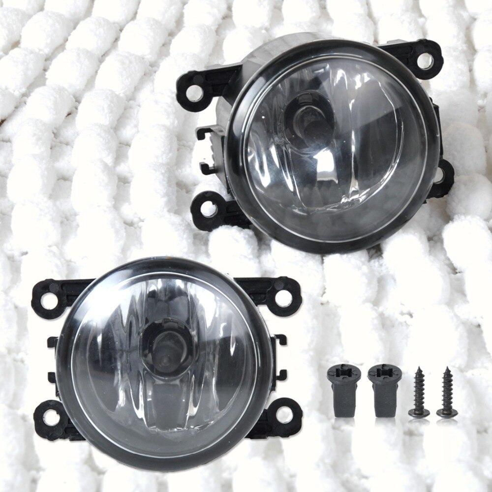 CITALL 2pcs Right + Left Side Fog Light Lamp + H11 Bulb 55W For Acura RDX TL Honda CR-V Ford Lincoln Jaguar Subaru Nissan Suzuki