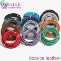 60CM Multicolor 10*6mm Real Licorice Leather Cords wire/cord for european popular bracelet choker Jewelry making 2016 hot new