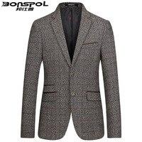ブランドbonspolカジュアルスーツ秋青年ウールスーツ男性卸売ビジネスジャケットウールジャケット新しいファッションブランド男性ブレザ