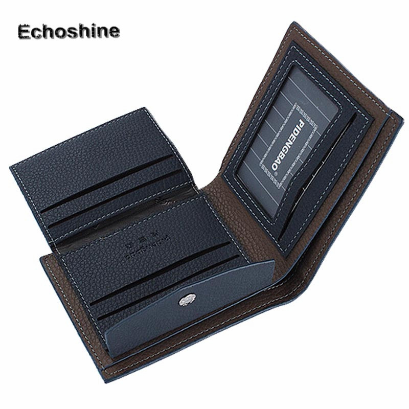 Men's Wallet New Fashion Mens Leather Bifold ID Money Holder Purse Wallet Clutch Handbag Leather Creative Soft Surface Purse A9
