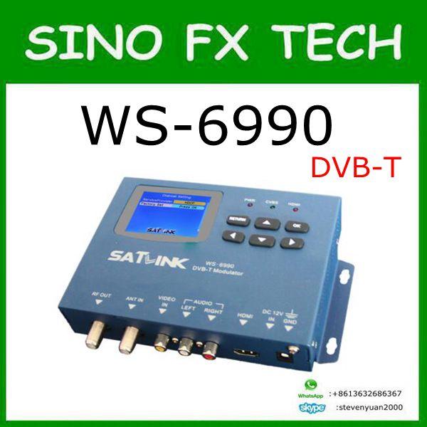 Latest 2017 DVB-T WS-6990 WS6990 DVB-T Modulator AV/HD satellite finder meter kit COFDM modulation original satlink dvb t ws 6990 terrestrial finder 1 route dvb t modulator av hd meter ws6990 satlink 6990