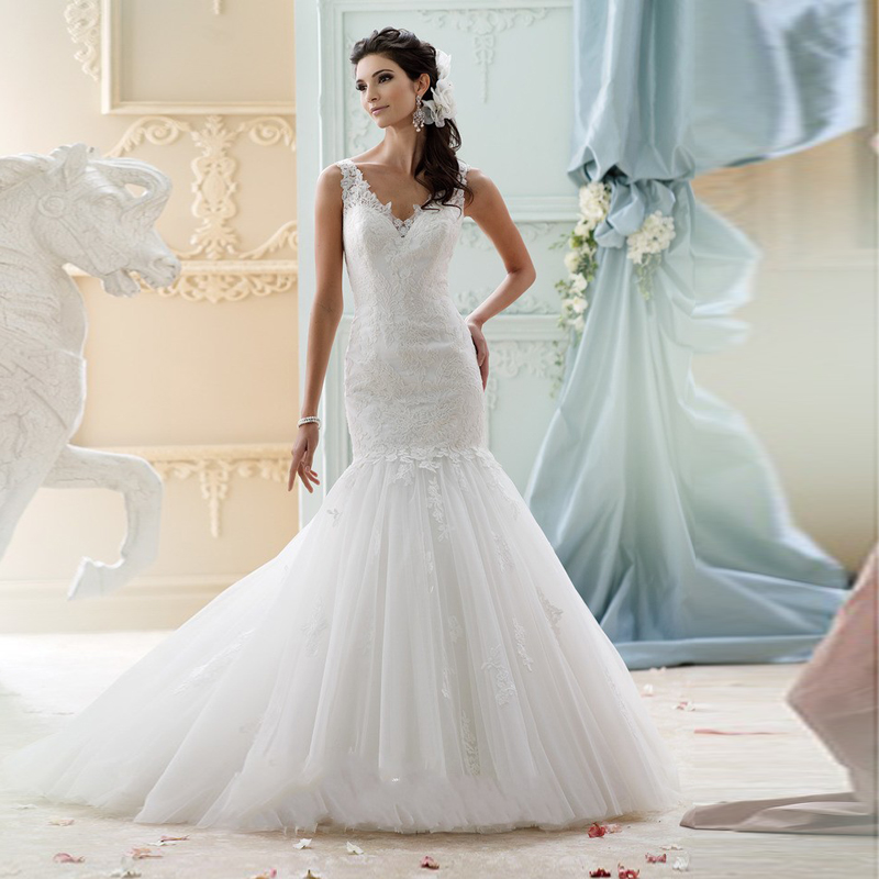 inform newly design sexy keyhole back chapel train with lace white bridal dress mermaid wedding dresses 2016 new arrival