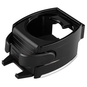 Image 5 - Bekerhouder portavasos para coche, soporte para botella de agua, salida de ventilación de aire, soporte para teléfono, portavasos negro para bebidas, Coche