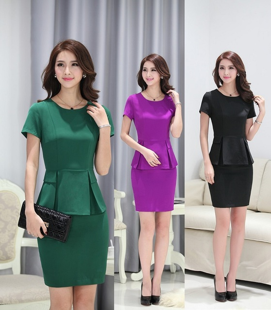 New Fashion Summer Female Work Wear Suits Tops And Skirt Ladies Office Formal OL Styles Professional Ladies Outfits