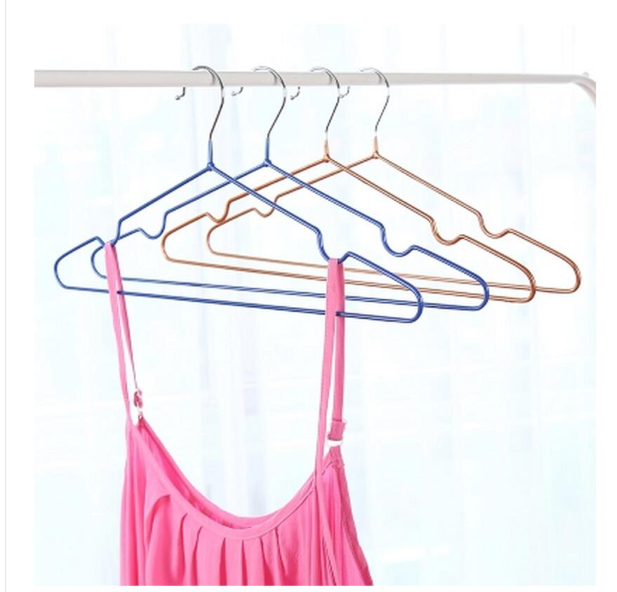 10 pcs / lot 40 cm Anti-dérapant séchage et séchage cintres en - Organisation et stockage dans la maison - Photo 3