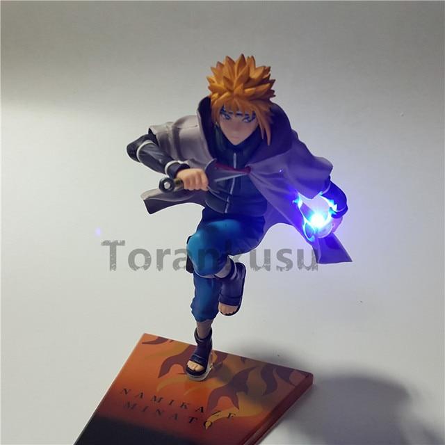 Naruto Action Figure Namikaze Minato Led Light Rasengan Model Toy Anime Naruto Shippuden Figurine Sasuke Uzumaki Naruto 200mm 3