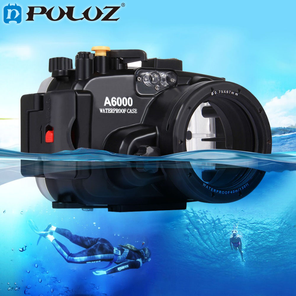 PULUZ 40m 1560inch 130ft Depth Underwater Swimming Diving Case Waterproof Camera bag Housing case for Sony A6000 meikon 40m wp dc44 waterproof underwater housing case 40m 130ft for canon g1x camera 18 as wp dc44