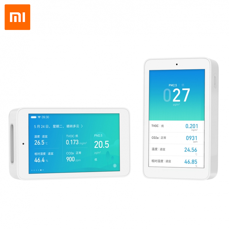 Xiaomi Mijia Air Quality Tester 3.97 inch Screen Remote Monitoring TVOC CO2 smartmi PM2.5 Temperature and Humidity Measurement-in Smart Remote Control from Consumer Electronics