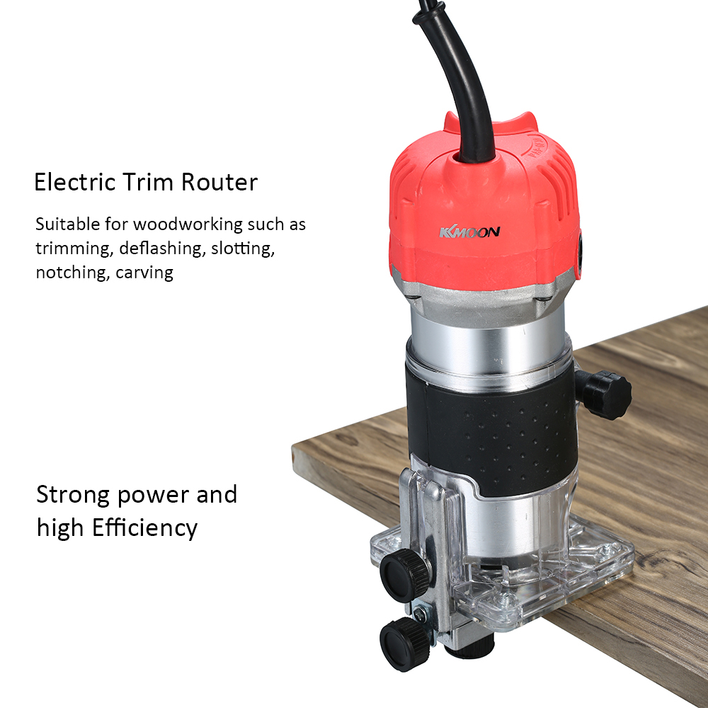 Image 2 - 220V 800W Electric Trimmer Handheld Laminate Edge Trimmer Collet Wood Router Woodworking Milling Engraving Slotting Machine-in Electric Trimmers from Tools on