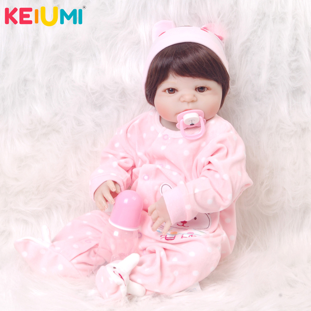 Wholesa 23 57cm Full Silicone Vinyl Body Bebe Reborn Real Doll Baby Toys Newborn Dolls For Princess Fashion Birthday GiftsWholesa 23 57cm Full Silicone Vinyl Body Bebe Reborn Real Doll Baby Toys Newborn Dolls For Princess Fashion Birthday Gifts