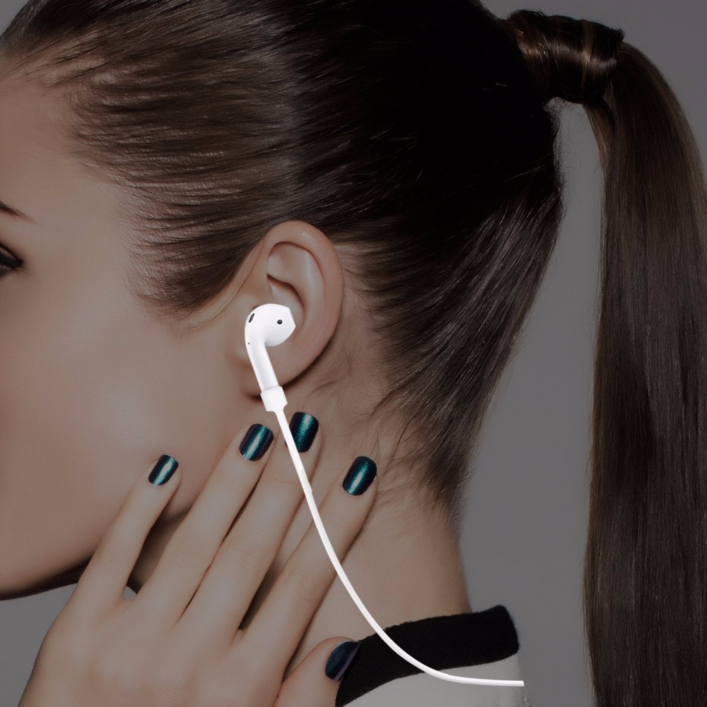 50pcs Silicone Ear Loop Strap Anti Lost String Rope Cord for Air Pods for Apple Bluetooth Earphones for AirPods Earphones Acces