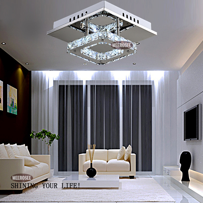 Square Led Crystal Chandelier Light For Aisle Porch Hallway Stairs Wth Bulb 12 Watt 100 Guarantee In Chandeliers From Lights Lighting On