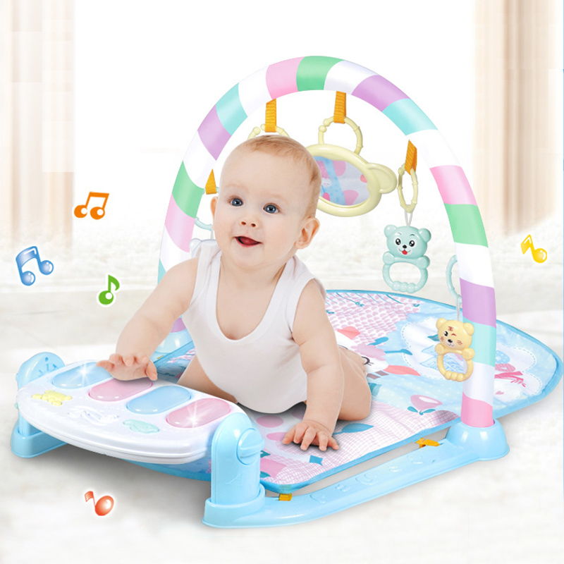 Baby Playmat Musical Kids Rug Carpet With Hanging Toys Developing Mat With Keyboard Baby Activity Gym Gaming Mat For Children ...