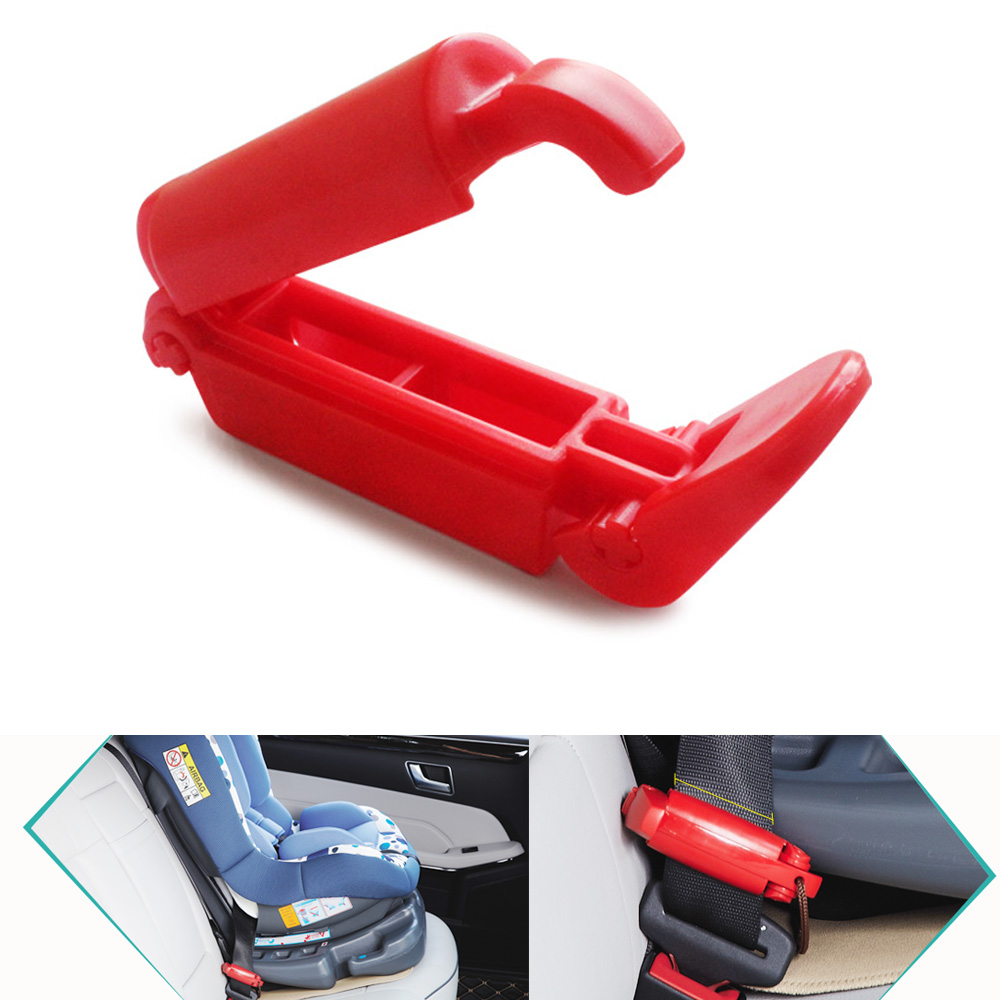 1 PCS High quality Plastic Child Car Seat Safety Belt Fitted Slip-Resistant Clip Buckle Non Anti-Clip Strap Clamp Clip Red