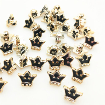 10pcs,12mm gold acryl buttons in Gold color,Imperial crown Classic fashion British style,garment accessories DIY materials shirt image