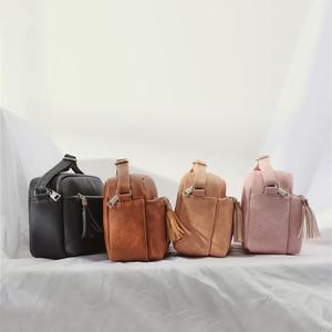 Image 5 - Qianxilu 2019 New Womens Small Shoulder Tassel Bags Messenger Bag Ladies PU Leather Handbag Purse Female Zipper Crossbody Bag