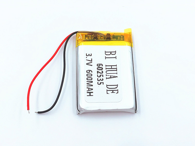 Supply lithium battery lithium polymer Rechargeable battery 602535 <font><b>600</b></font> <font><b>mah</b></font> <font><b>3.7</b></font> <font><b>V</b></font> For MP3 MP4 MP5 GPS PSP MID Bluetooth Headset image
