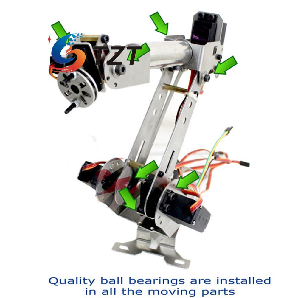 6 Axis Mechanical Robotic Arm Clamp with Servos DIY Kit for Robot Smart Car Arduino SCM DIY abb 6dof robot mechanical arm alloy robotics arm rack with servos power supply for arduino board kit