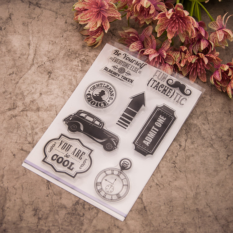 Vintage car Silicone Clear Stamp Seal DIY Scrapbooking Note Diary Craft Photo Album Decoration Supplies Card Handwork Making infinite destiny in america photobook 50p memo note 100p 3 photo stickers release date 2013 10 18 korea kpop album