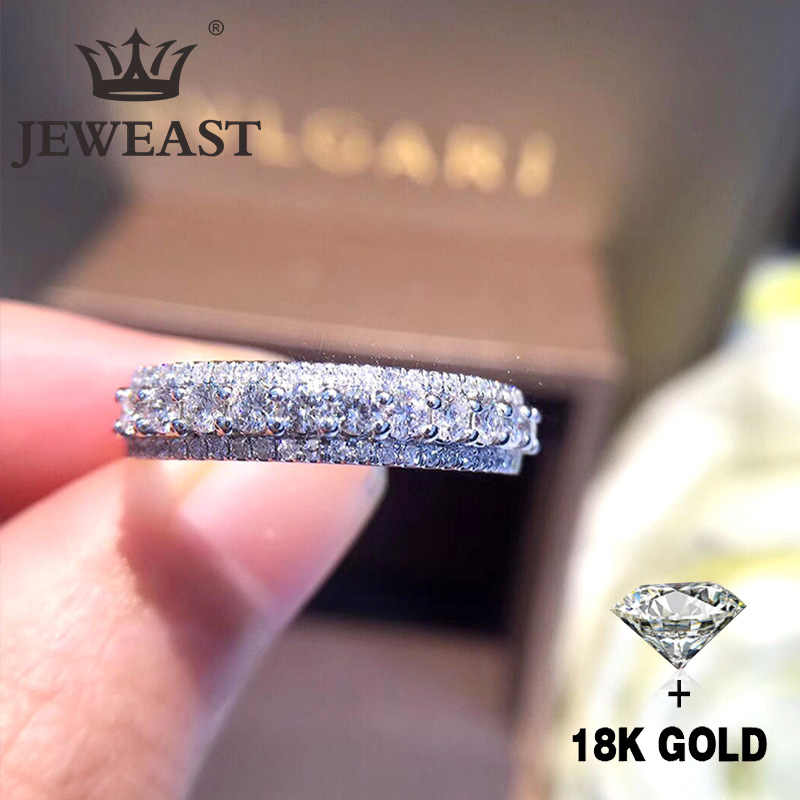 Natural Diamond 18K Gold Pure Gold Ring Beautiful Gemstone Ring Good Upscale Trendy Classic Party Fine Jewelry Hot Sell New 2018