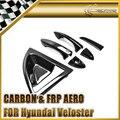 EPR Car Styling Para Hyundai Veloster Turbo Real Carbon FIber Outter Accesorios Del Coche Manija de La Puerta Ajuste de La Cubierta