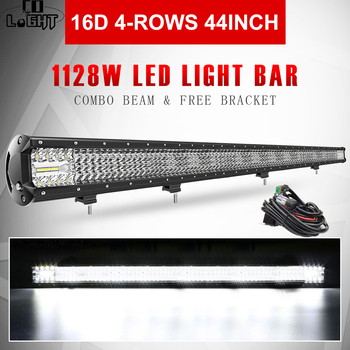цена на CO LIGHT 16D LED Light Bar 44 1128W Combo Beam 4-Row Car Work Light Bars Driving Lamp 4x4 Offroad 4WD 12V 24V for Truck ATV SUV