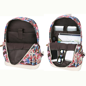 Image 4 - 2020女性動物フクロウ印刷バックパックキャンバスbookbagsスクールバックパック十代の少女bagpack backbag